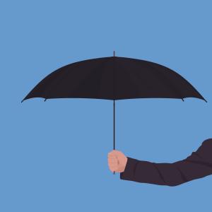 simple-umbrella Blue